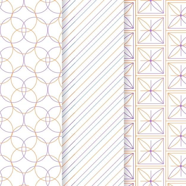 最小限の幾何学模様コレクションのコンセプト 無料ベクター
