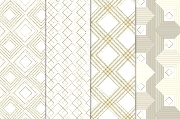 최소한의 기하학적 패턴 컬렉션 스타일 무료 벡터
