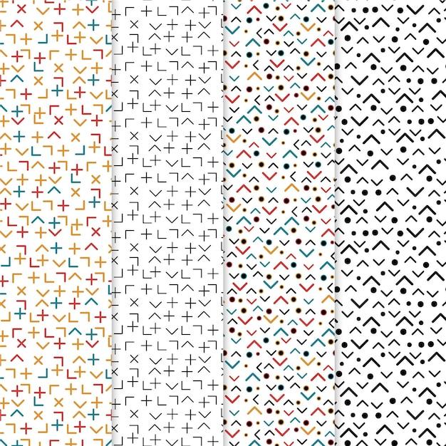Collezione di motivi geometrici minimal Vettore gratuito