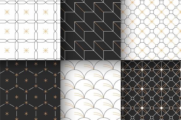 Коллекция минимальных геометрических узоров Premium векторы