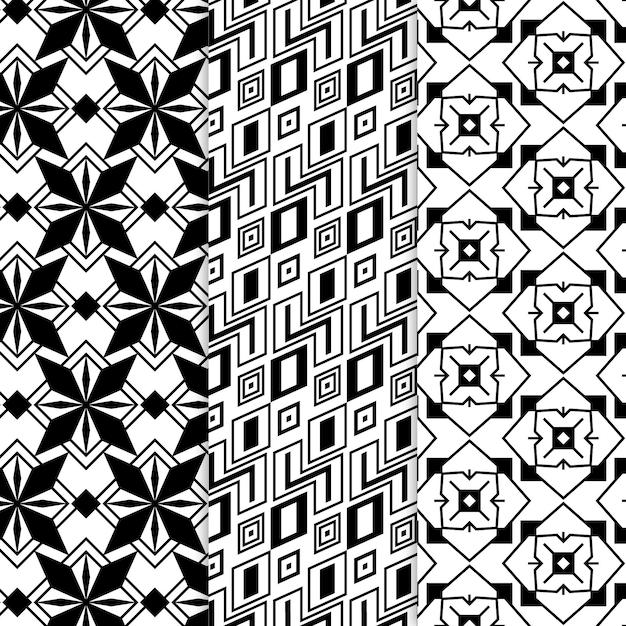 最小限の幾何学模様コレクション 無料ベクター