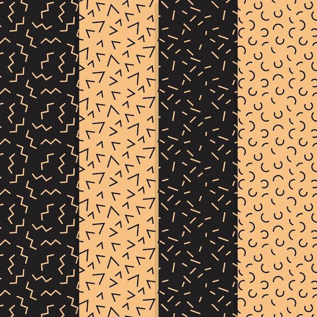 최소한의 기하학적 패턴 모음 무료 벡터