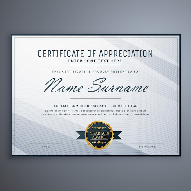 Certificate vectors photos and psd files free download minimal grey diploma design template yadclub Image collections