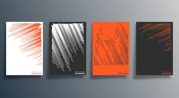 Minimal halftone design for flyer, poster, brochure cover, background, wallpaper, typography or other printing products. vector illustration. Premium Vector