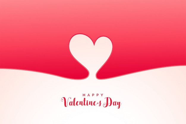 Minimal heart background for valentines day Free Vector