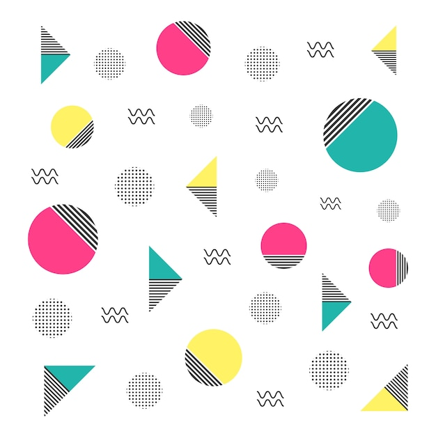 minimal hipster pattern Free Vector