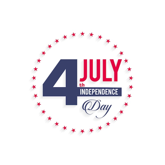 Minimal independence day design Free Vector