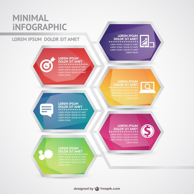 Minimal infographic template Vector | Free Download
