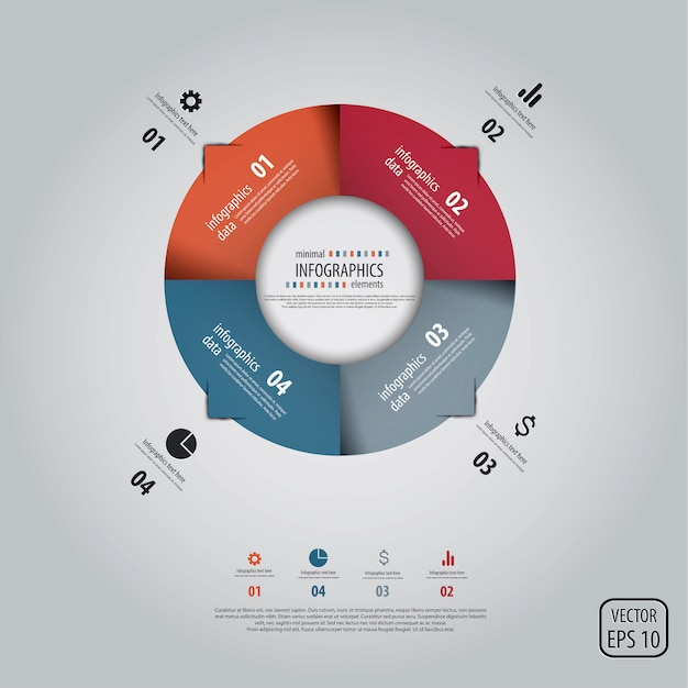 Minimal infographics . Premium Vector