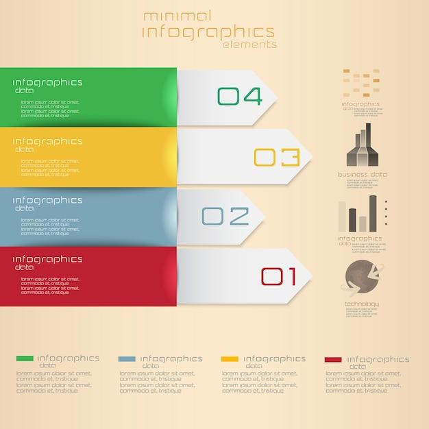 Minimal infographics. Premium Vector