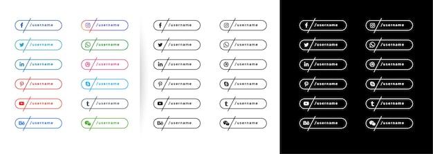 Modello di banner di social media in stile linea minimale Vettore gratuito