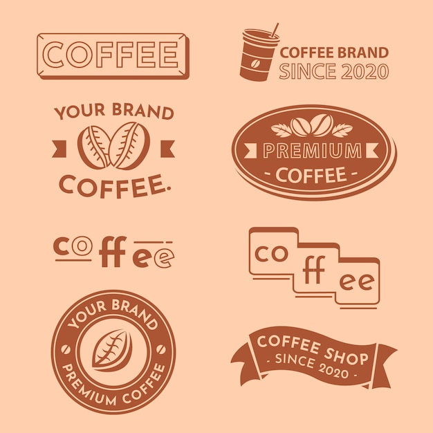 Minimal logo collection in two colors Free Vector