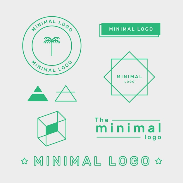 Minimal logo element set in two colors Free Vector