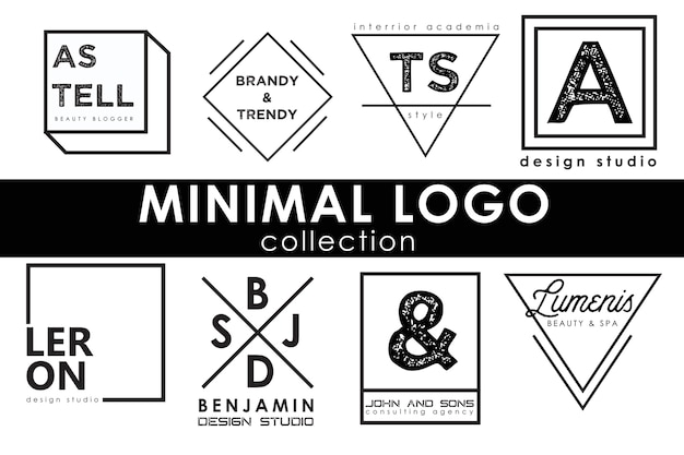 Minimal logo template collection Premium Vector