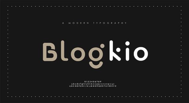Минимальные современные алфавитные шрифты. типография минималистский городской цифровой модный будущий креативный шрифт логотипа. Premium векторы