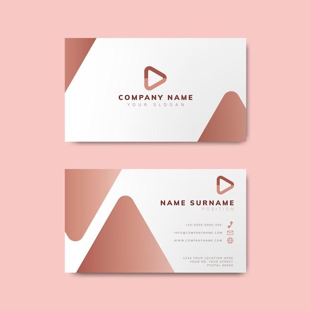 Minimal modern business card design Free Vector