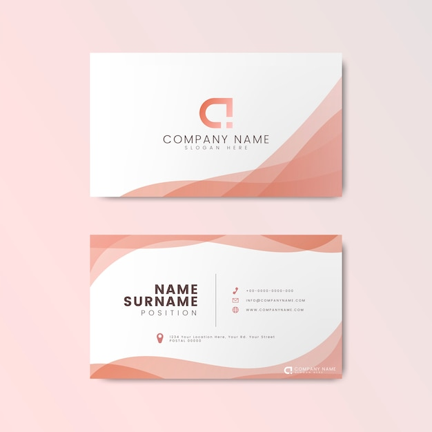 Minimal modern business card design Free Vector