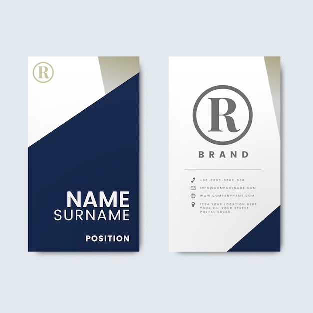 Minimal modern business card Free Vector