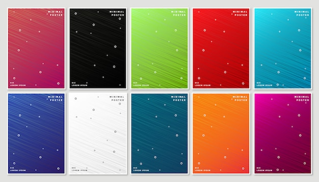 Minimal modern cover design with abstract geometric line Premium Vector