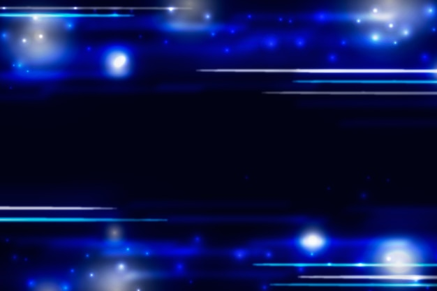 Minimal particle blue background with copy space Free Vector