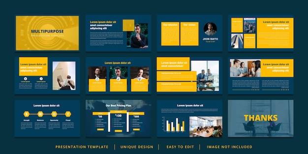 Минимальный шаблон презентации powerpoint Premium векторы
