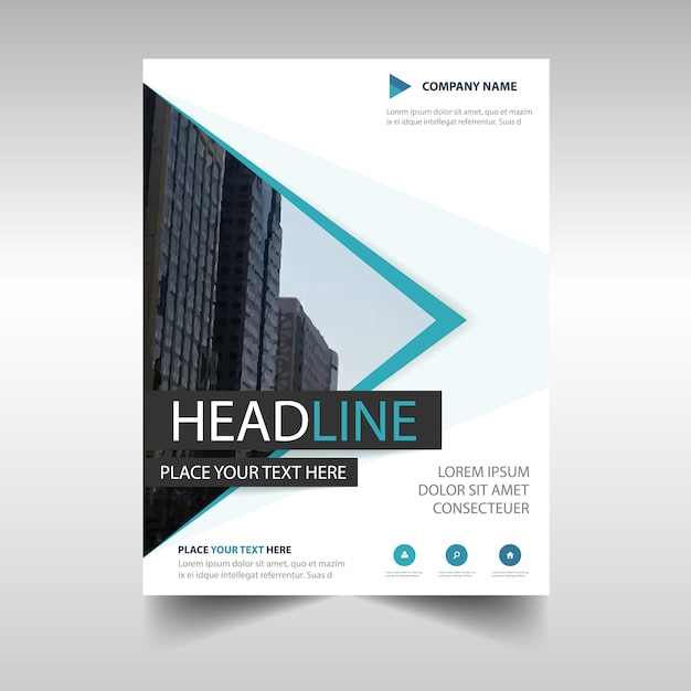 Minimal Professional Annual Report Template Vector  Free Download