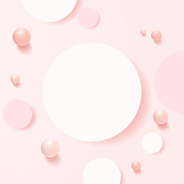 기하학적 형태의 최소 장면. 배 짱과 부드러운 분홍색 배경에 상위 뷰 실린더 연단. 화장품, 쇼케이스, 상점, 진열장을 보여주는 장면. . 프리미엄 벡터