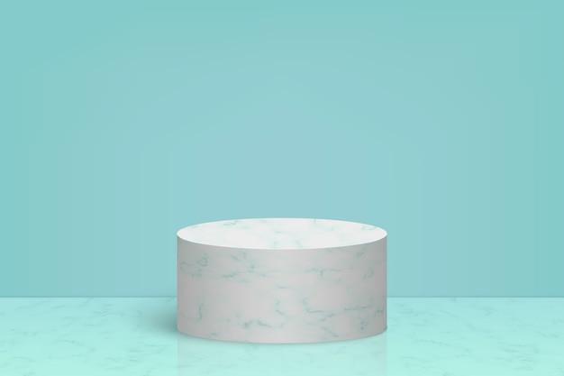 대리석 돌 연단, 화장품 제품 프리젠 테이션 배경이있는 최소한의 장면 프리미엄 벡터