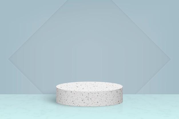 테라 초 대리석 돌 연단, 화장품 제품 프리젠 테이션 배경이있는 최소한의 장면 프리미엄 벡터