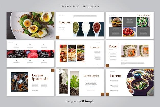 Minimal slides template Free Vector