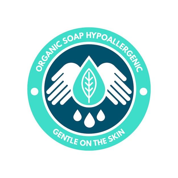 最小限の石鹸のロゴのテンプレート Premiumベクター
