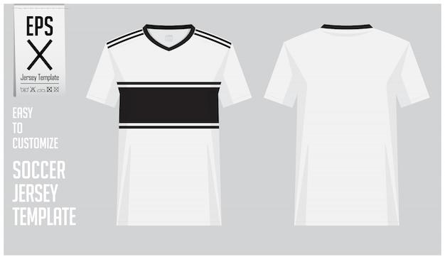 minimal soccer jersey or football kit template design
