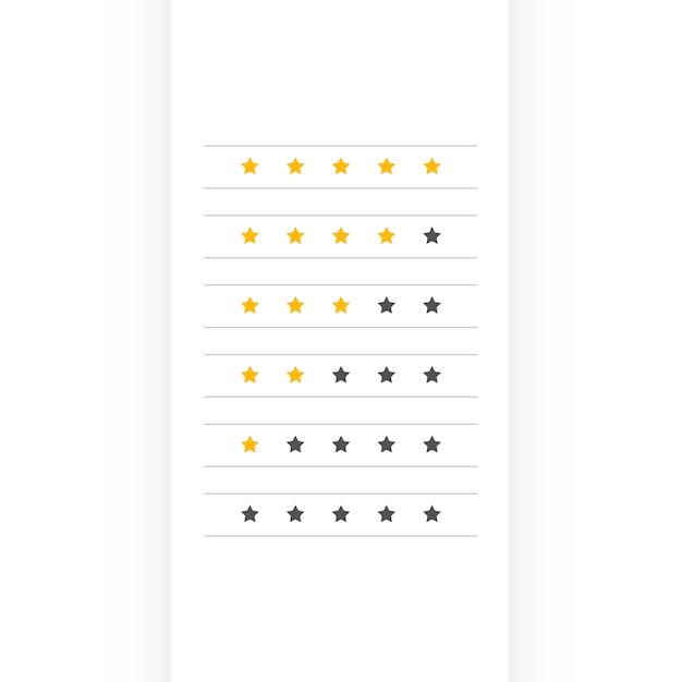 Minimal star rating symbol design Free Vector