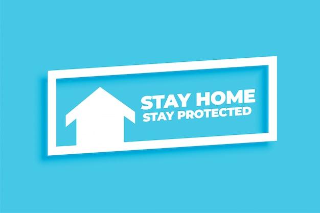 最小限のホーム滞在保護コンセプトの背景 無料ベクター