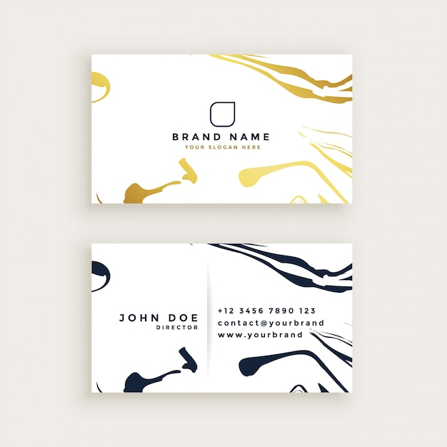 minimal style business card design Free Vector