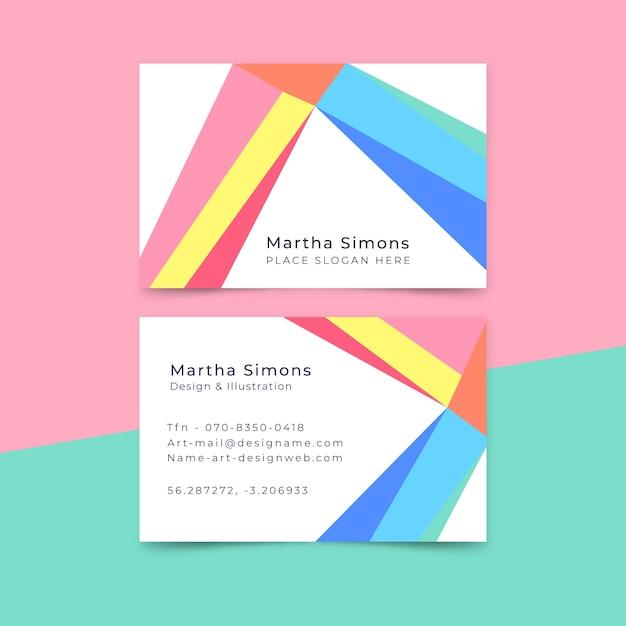 Визитная карточка дизайнера в минимальном стиле Бесплатные векторы