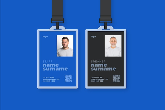 Minimal style id cards template Free Vector