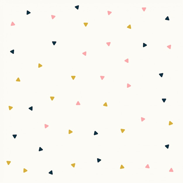 Minimal triangle pattern design in pastel colors Free Vector