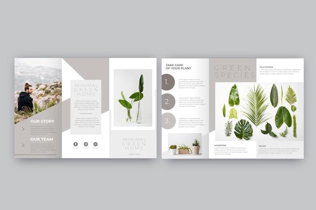 Минимальный тройной шаблон брошюры Бесплатные векторы