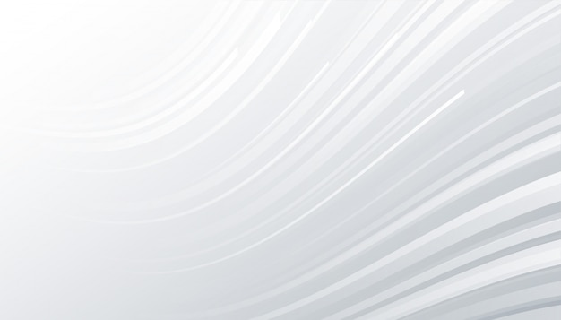 Minimal white and gray background with wavy lines Free Vector