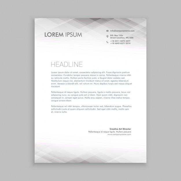 Minimal white letterhead design Free Vector
