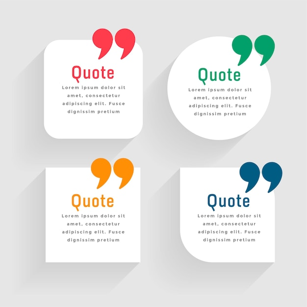 Minimal white quote template in geometric shapes Free Vector