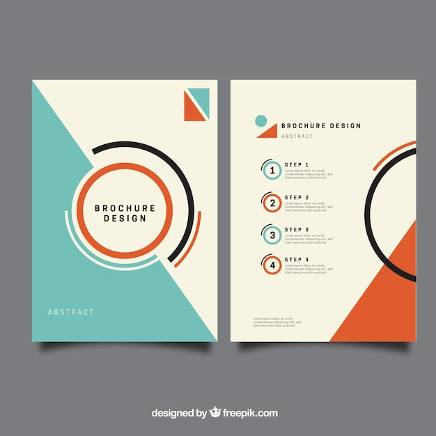 Minimalis brochure template vector free download for Brochure booklet templates