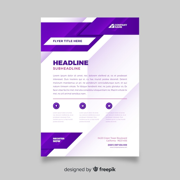 Minimalist abstract business flyer Free Vector
