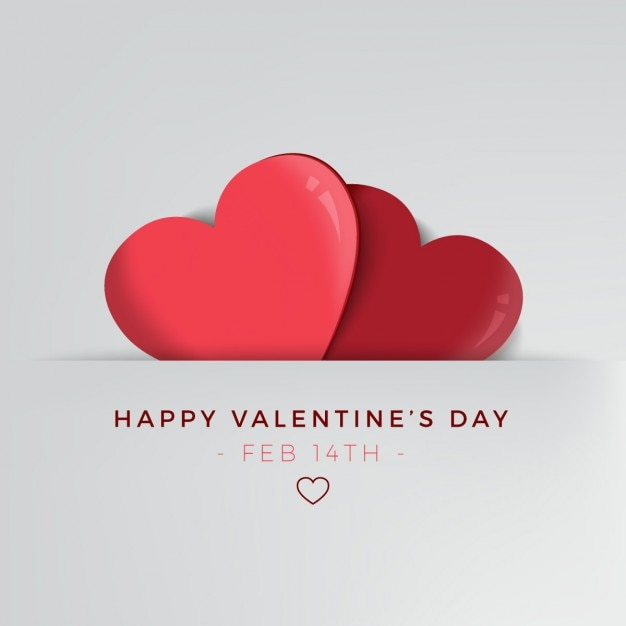 Minimalist Background For Valentines Day Vector Free Download