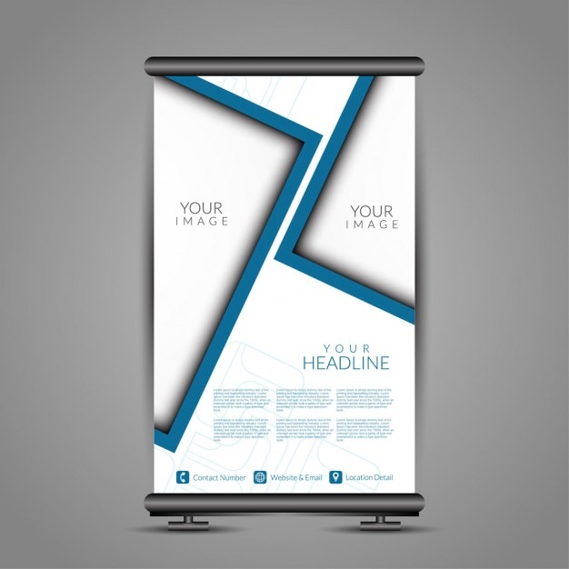 minimalist banner stand template vector free download