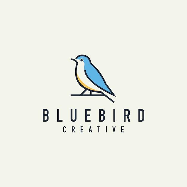 Minimalist bird logo Premium Vector
