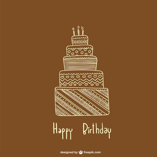 Minimalist Birthday Card Vector Free Download