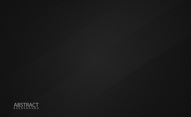 Minimalist black background with diagonal grid Premium Vector