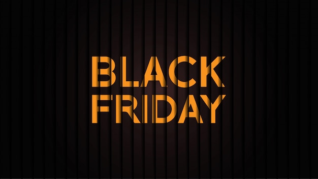 Minimalist black friday banner Premium Vector